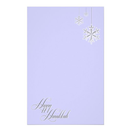 Hanging Snowflakes (blue) Customized Stationery