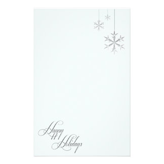 Hanging Snowflakes Customized Stationery