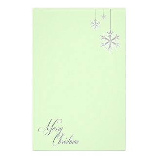 Hanging Snowflakes (green) Custom Stationery