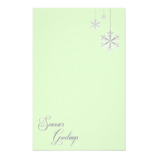 Hanging Snowflakes (green) Stationery