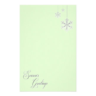 Hanging Snowflakes (green) Stationery Paper