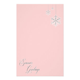 Hanging Snowflakes (red) Personalized Stationery