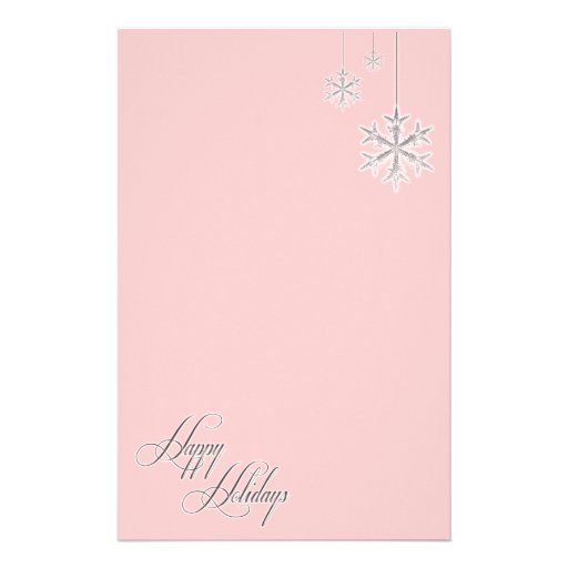 Hanging Snowflakes (red) Stationery