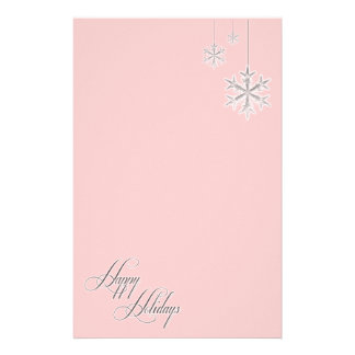 Hanging Snowflakes (red) Stationery Design