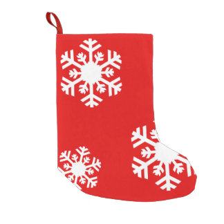 Hanging Snowflakes! Small Christmas Stocking