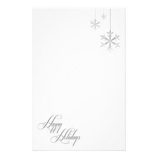Hanging Snowflakes (white) Custom Stationery