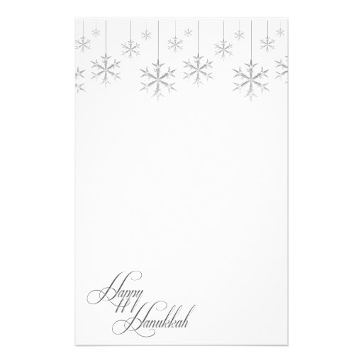 Hanging Snowflakes (white) Stationery