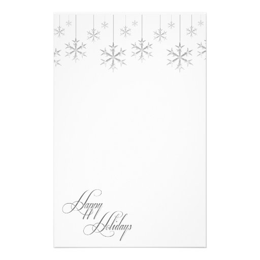 Hanging Snowflakes (white) Customized Stationery