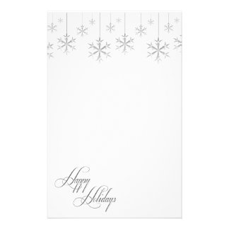 Hanging Snowflakes (white) Stationery Paper