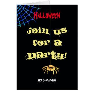 Hanging Spider Halloween Card