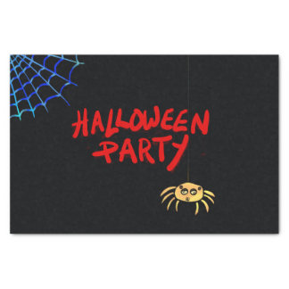 Hanging Spider Halloween Tissue Paper