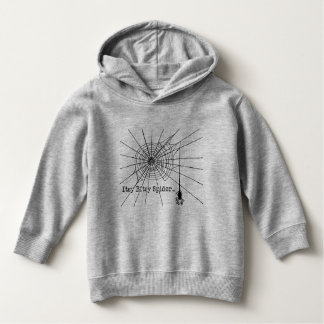 Hanging Spider in a web Gothic Halloween Hoodie