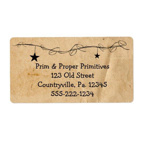 Hanging Stars Business Label
