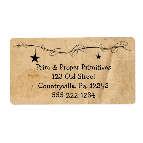 Hanging Stars Business Label Shipping Label