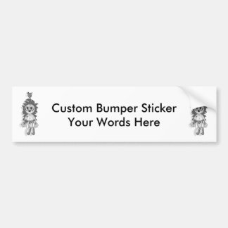 Hanging Teddy Grey Black & White Bumper Sticker