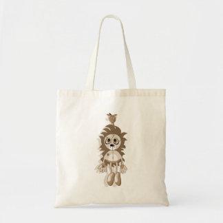 Hanging Teddy Orange Sepia Tote Bag