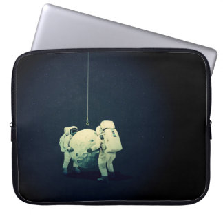 Hanging the moon laptop sleeve