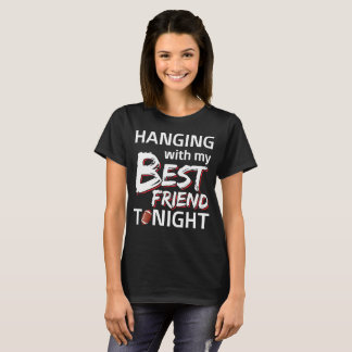 Hanging with My Best Friend Football T-Shirt