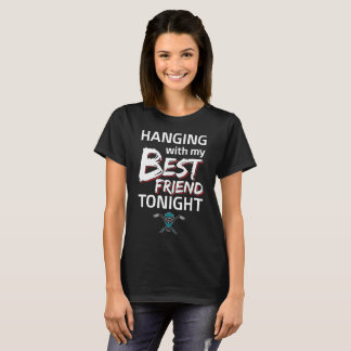 Hanging with My Best Friend Hockey T-Shirt