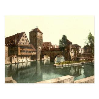 Hangman Bridge, Nuremberg, Bavaria, Germany Postcard