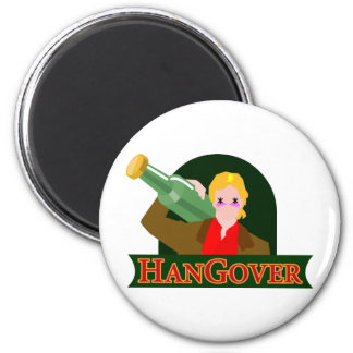hangover 2 inch round magnet