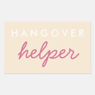Hangover Helper Wedding Bachelorette Favor Sticker