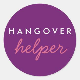 Hangover Helper Wedding Bachelorette Favour Round Sticker