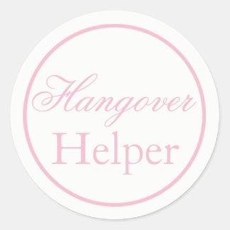 """Hangover Helper"" Wedding Sticker Blush Pink"