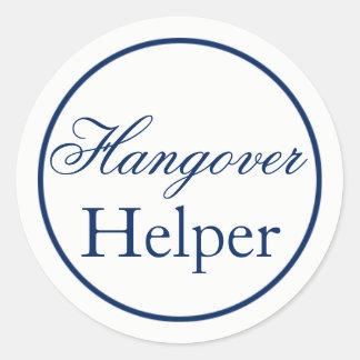 """Hangover Helper"" Wedding Sticker - Navy"