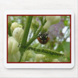 Hangover JPG Funny beetle Lustiger Käfer Mousepad
