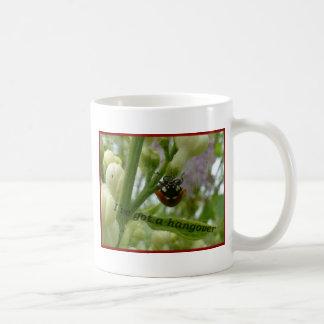 Hangover.JPG Funny beetle Lustiger Käfer Basic White Mug