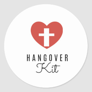 Hangover Kit Drinking Labels,  Favour Sticker