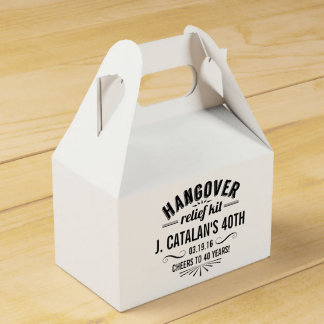 Hangover Relief Kit   Vintage Style Birthday Party Favor Box