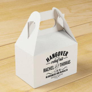 Hangover Relief Kit | Vintage Style Wedding Wedding Favor Boxes