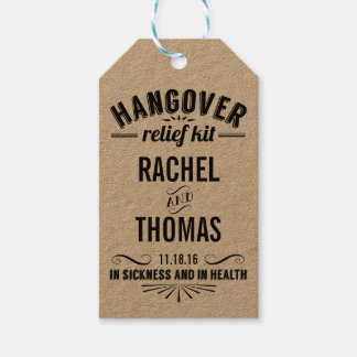 Hangover Relief Kit | Wedding Recovery Favor Pack Of Gift Tags