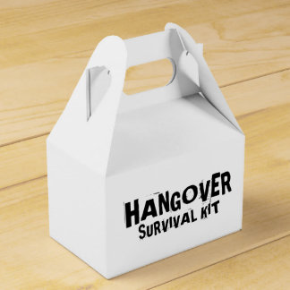 """Hangover Survival Kit"" Favor Box"