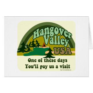 Hangover Valley USA Card
