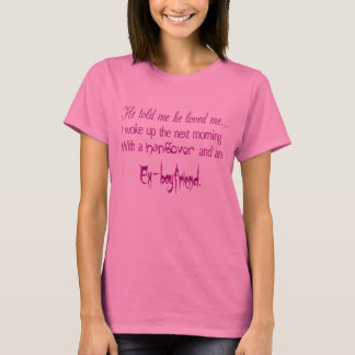 Hangovers and Ex-Boyfriends Ladies Long Sleeve T-Shirt