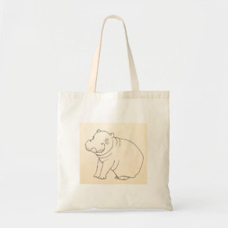 Hangry Hangry Hippo Grocery Tote