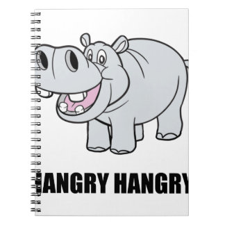 Hangry Hippo Spiral Note Books