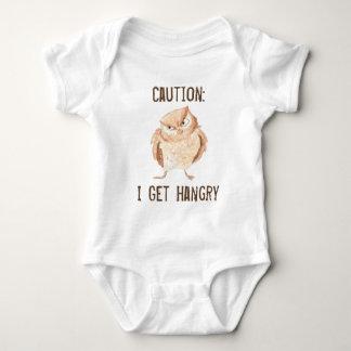 Hangry Owl Watercolor Baby Bodysuit