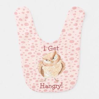 Hangry Owl Watercolor Bibs