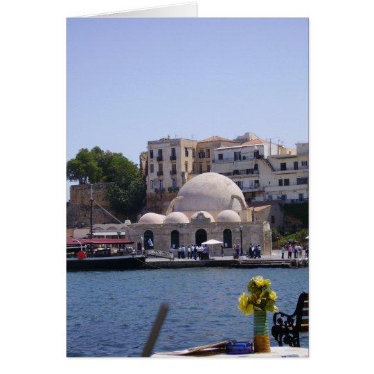 Hania, Crete inner harbour Card