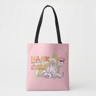 Hank   Live in a Glass Box Alone Tote Bag