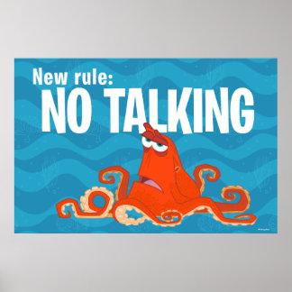 Hank | New Rule...No Talking Poster