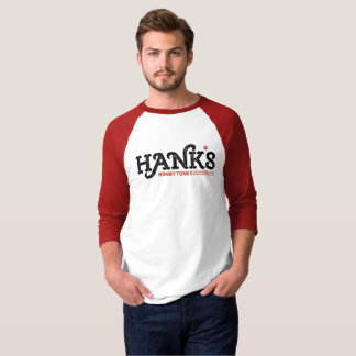 Hank's Honky Tonk 3/4 (Men's) Red T-Shirt