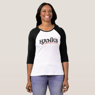 Hank's Honky Tonk 3/4 (Women's) Black T-Shirt
