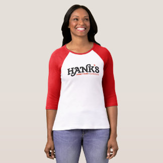 Hank's Honky Tonk 3/4 (Women's) Red T-Shirt