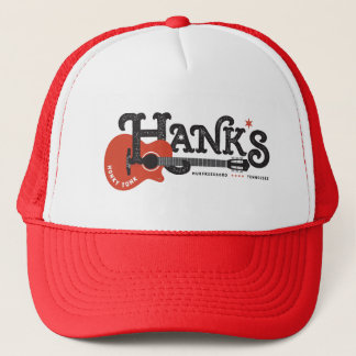 Hank's Honky Tonk Red Trucker Trucker Hat