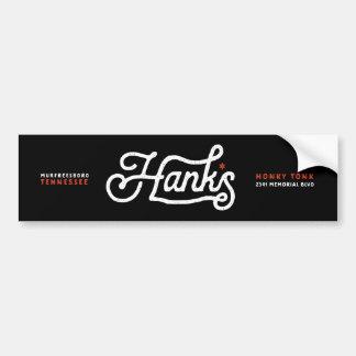 Hanks Signature Logo Black Sticker Bumper Sticker